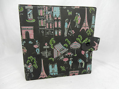"Beautiful 50´s design 7 inch record wallet / Schallplatten Mappe "" Paris "" 09921"