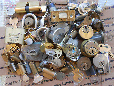 LOT of Lock Cylinders,parts... For Picking Practice ... Handiman, Locksmith...
