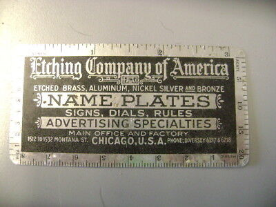 old etching company of america metal decimal equivalents advertisement