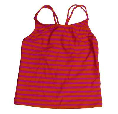 JCrew Crewcut Girl Tankini Top Sailor Stripe Swim F9317 $27 Bright Persimmon 8