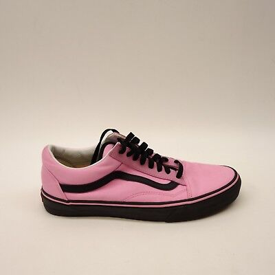 New Vans Mens Old Skool Hot Pink   Black Lace Up Canvas Sneaker Shoes Sz 10 fa118741a