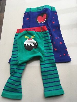 Joules Christmas leggings 0-6months