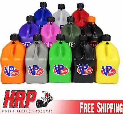 VP Racing Fuels Square 5 Gallon Fuel Jug with Exclusive Custom Cap Colors