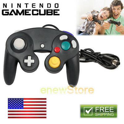 Black Shock Game Controller Pad for Nintendo Gamecube GC Wii NEW US 2018 New