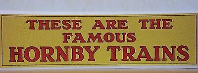 These are the Famous Hornby Trains Display stickers ( A )
