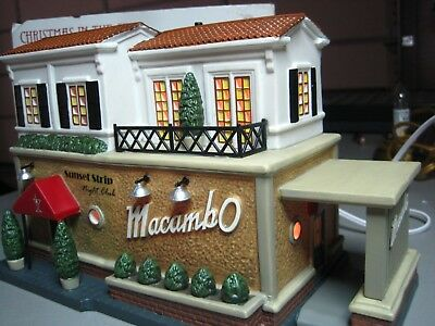 Dept 56 Macambo night club lounge excellent condition illuminated nice detail