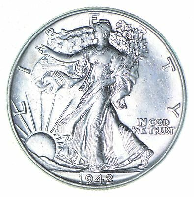 Choice AU Unc 1942 Walking Liberty Half Dollar *294