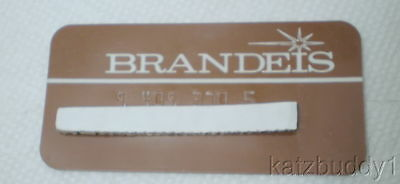 Vintage 1960s Omaha Brandeis Department Store Plastic Credit/Charge Card