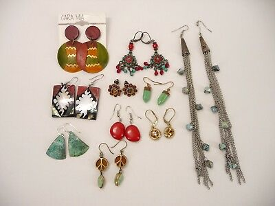 Estate Vintage to Now Lot of Southwestern Earrings Multi Tone AR24