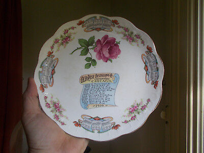 1910 Old Rose Distilling Co Chicago Whiskey Advertising Calendar Plate