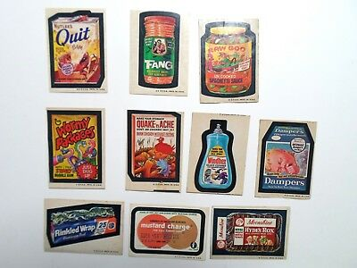 Wacky Packages 4th Series 4 Lot of 10 Different Stickers Tan Back 1973 Windhex