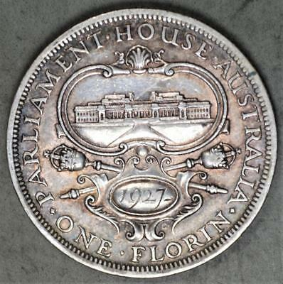 Australia 1927 Florin Sterling Silver Coin - Opening of Parliament Commemorative