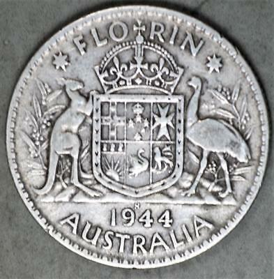 Australia 1944-S Florin Sterling Silver Coin