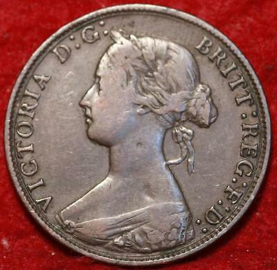 1870 Great Britain 1/2 Penny Foreign Coin