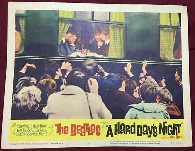 The Beatles eating inside of train A Hard Day's Night 1964 # 4 Lobby card 2206