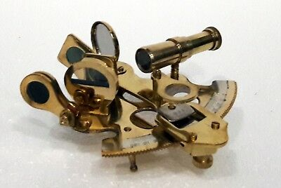Golden Brass Victorian Old Gps System Nautical German Sextant