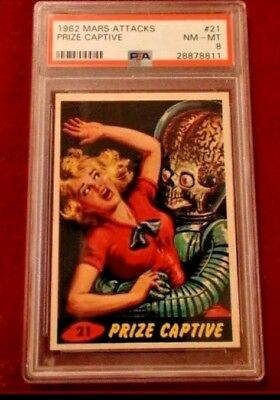 1962 Topps Mars Attacks #21 Psa 8 Nm-Mt Prize Captive Original Series