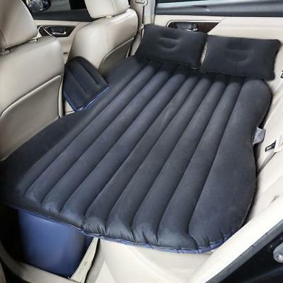 Car Air Bed Inflatable Mattress Back Seat Cushion Pillow/Pump For Travel Camping