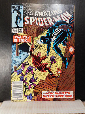 Amazing Spider-Man # 265  (1985)  1st Silver Sable  About Fn  919TB.