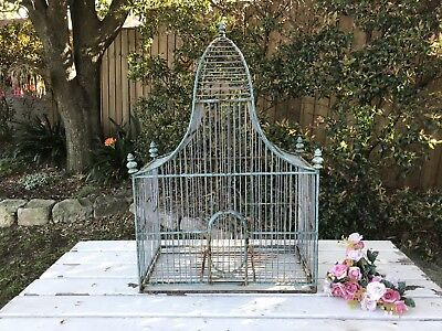 Decorative Vintage Antique Style Metal Birdcage~RARE~French Chic