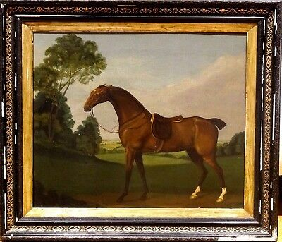 "Fine Large 18th Century English Bay Hunter Horse ""Flyer"" Portrait James Seymour"