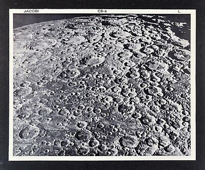 1960 Lunar Atlas Moon Map Photo - Jacobi C8-a Lick Observatory - Surface Craters