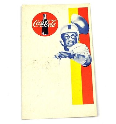 Drink Coca Cola Coke USA American Football Regel Karte 1960er Motiv 2