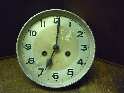 Original Art Deco Striking Wall Clock Spring Driven Movement+Dial (2)