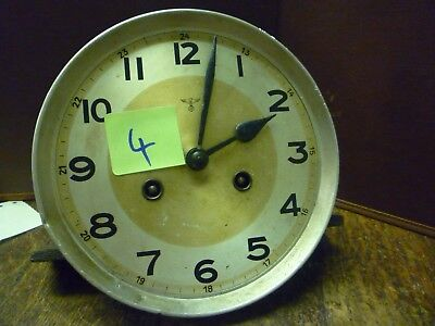 Original Art Deco Striking Wall Clock Spring Driven Movement+Dial (4)