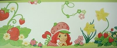 Kids Wall Border - Strawberry Shortcake - Wallpaper Frieze - Cute French Decor