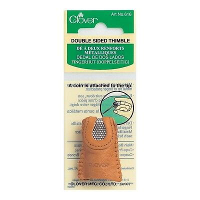 Clover Double Sided Thimble - Leather Protect Grip
