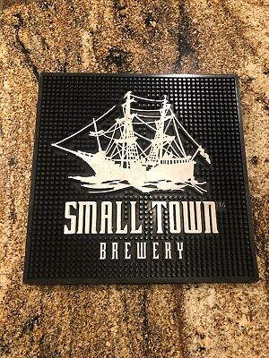 "Not Your Father's Root Beer Bar Mat Rubber Small Town Brewery Ship  14"" X 14"""