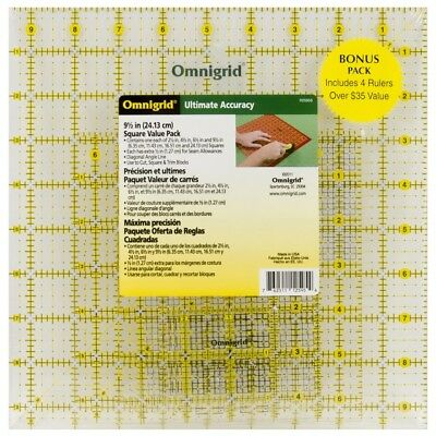 Omnigrid Value Pack2 R/pkg - Ruler Set Pack 2 4pkg