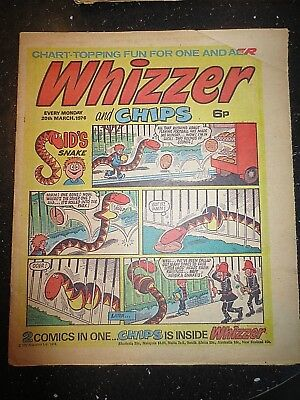 Whizzer and Chips COMIC 20 March 1976 Birthday Gift  Vintage Old UK Paper