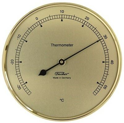 Fischer Thermometer 103mm messingfarben