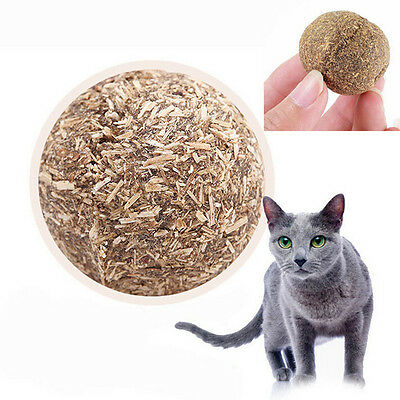 Natural Cat Mint Ball Play Toys Ball Coated with Catnip & Bell Toy for Pet Pop.