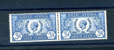 South Africa  1935 Silver Jubilee  3d  Line under Ear Variety L.H.M.  (S1042)