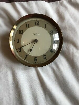 Antique Vintage Art Deco Smiths Clock 30 Hour Wind Up