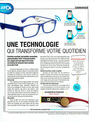 PUBLICITÉ ADVERTISING 098 2015 les opticiens Atol lunettes - EUR 3 ... 4345045b6ca6