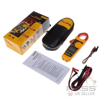 NEW FLUKE 324 True RMS Clamp Meter with Leads, Carry Case & 2 YR Warranty
