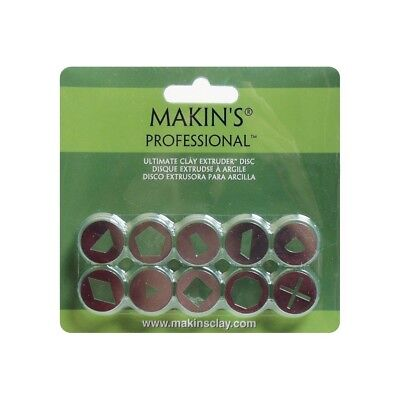 Makin's Professional Ultimate Clay Extruder Discs 10/pkg-set A - Makins Set