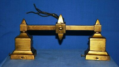 Vintage 2 Socket Brass Wall Light Fixture ~ Two Separate on/off Switches ~
