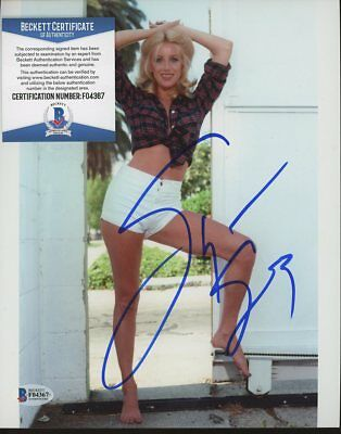 Suzanne Somers Actress Signed 8x10 Photo AUTO Autograph Beckett BAS COA