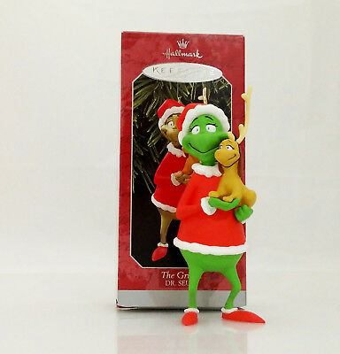 Hallmark Ornament 1998 The Grinch and Max as a Reindeer - Dr Seuss - #QXI6466