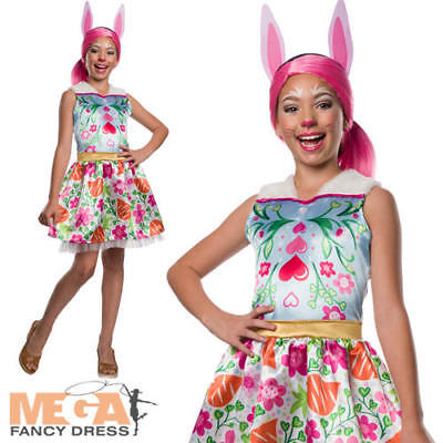 Bree Bunny Girls Fancy Dress Enchantimals Wonderwood Animal Fairy Tale Costume