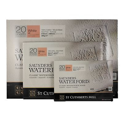 Saunders Waterford watercolour paper block cold hot pressed 300gsm 140lb