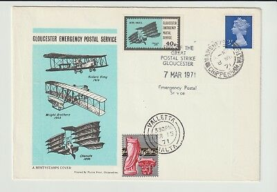 Gb Stamps 1971 Gloucester Strike Mail Souvenir Cover From Collection