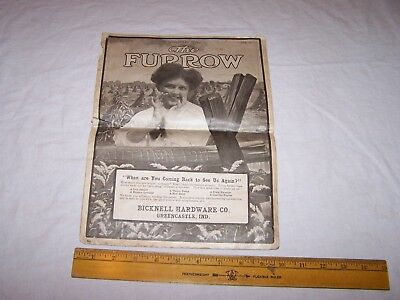 1911 BICKNELL HARDWARE GREENCASTLE INDIANA The Furrow JOHN DEERE Magazine