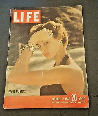 January 17, 1949 LIFE Magazine 40s Advertising ads add ad FREE SHIPPING Jan 1 16