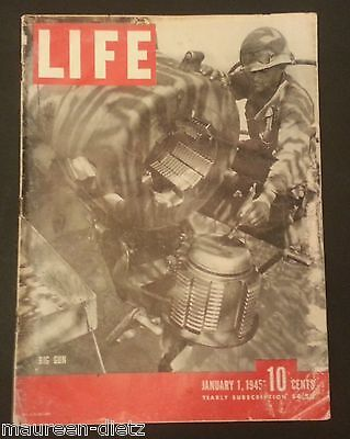 January 1, 1945 LIFE Magazine HURTGEN Forest. FREE SHIPPING Jan 45 2 3 4 5 6 7